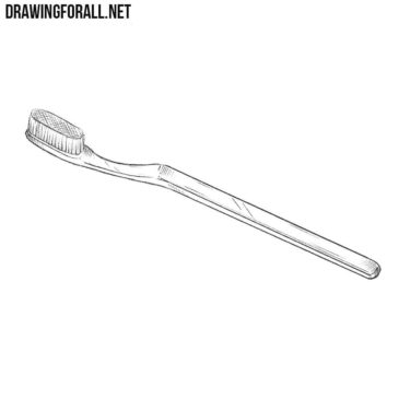How to Draw a Toothbrush