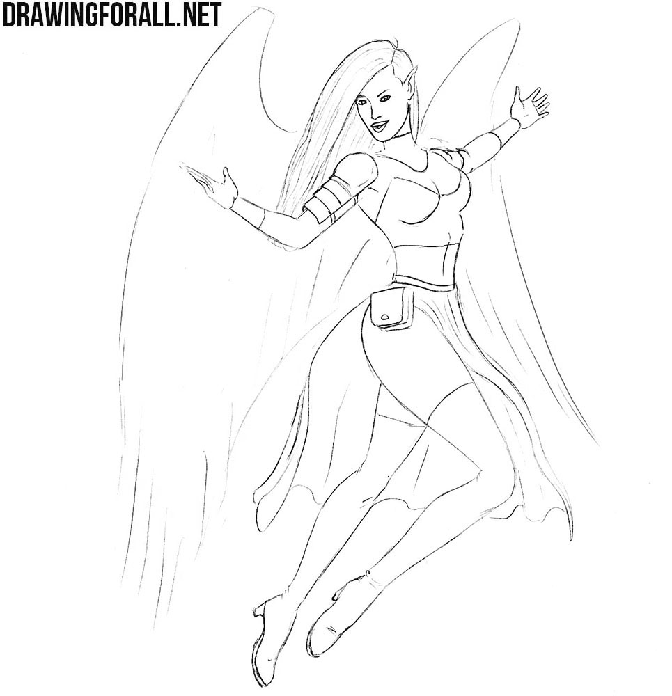 How to Draw a Mythical Knight Girl | Drawingforall.net