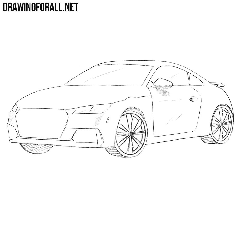 How To Draw A Coupe Car Drawingforall Net