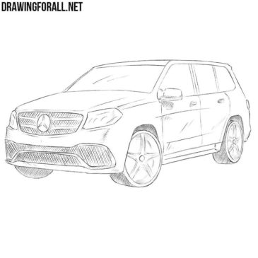 How to Draw a Mercedes-Benz GLS