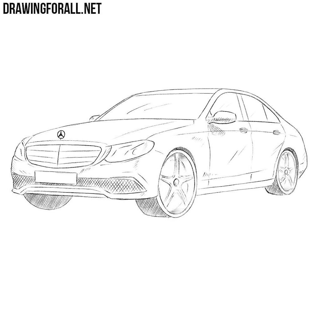 How to Draw a Mercedes-Benz E-Class