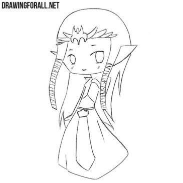 How to Draw Chibi Zelda