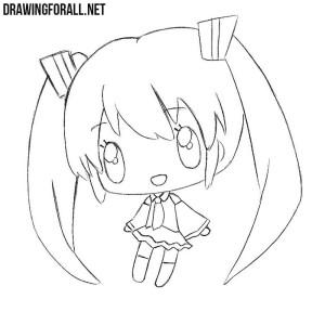 How to draw сute Chibi Girl