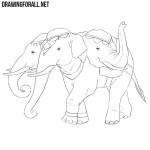 How to Draw Airavata