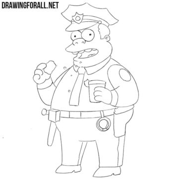 How to Draw Chief Wiggum Step by Step