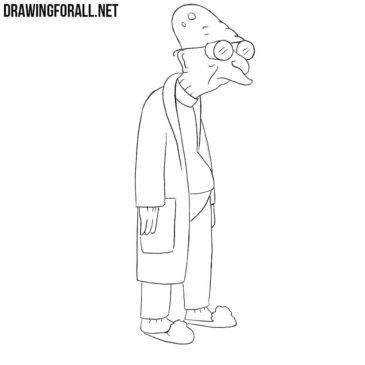 How to Draw Hubert Farnsworth