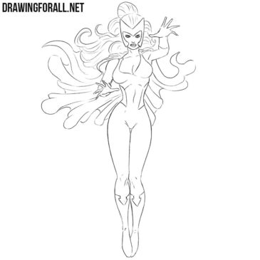 How to Draw Polaris from Marvel
