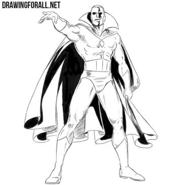 How to Draw Vision from Marvel
