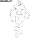 How to Draw Vulcan from Marvel