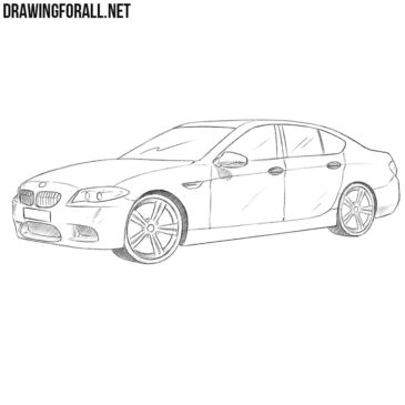 How to Draw a BMW M5