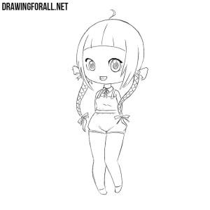 How to draw a Beautiful Chibi Girl