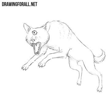 How to Draw the Black Shuck Dog