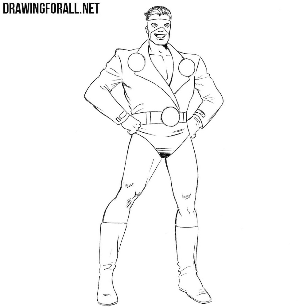 How To Draw A Classic Superhero Drawingforall Net