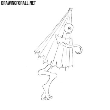 How to Draw a Kasa-Obake