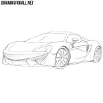 How to Draw a McLaren 570s