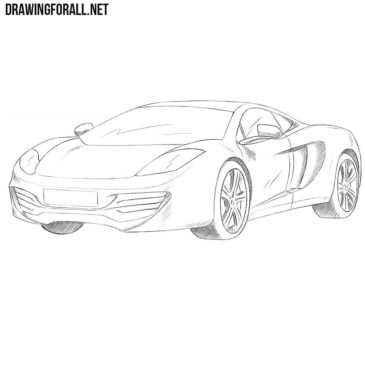 How to Draw a McLaren MP4-12C
