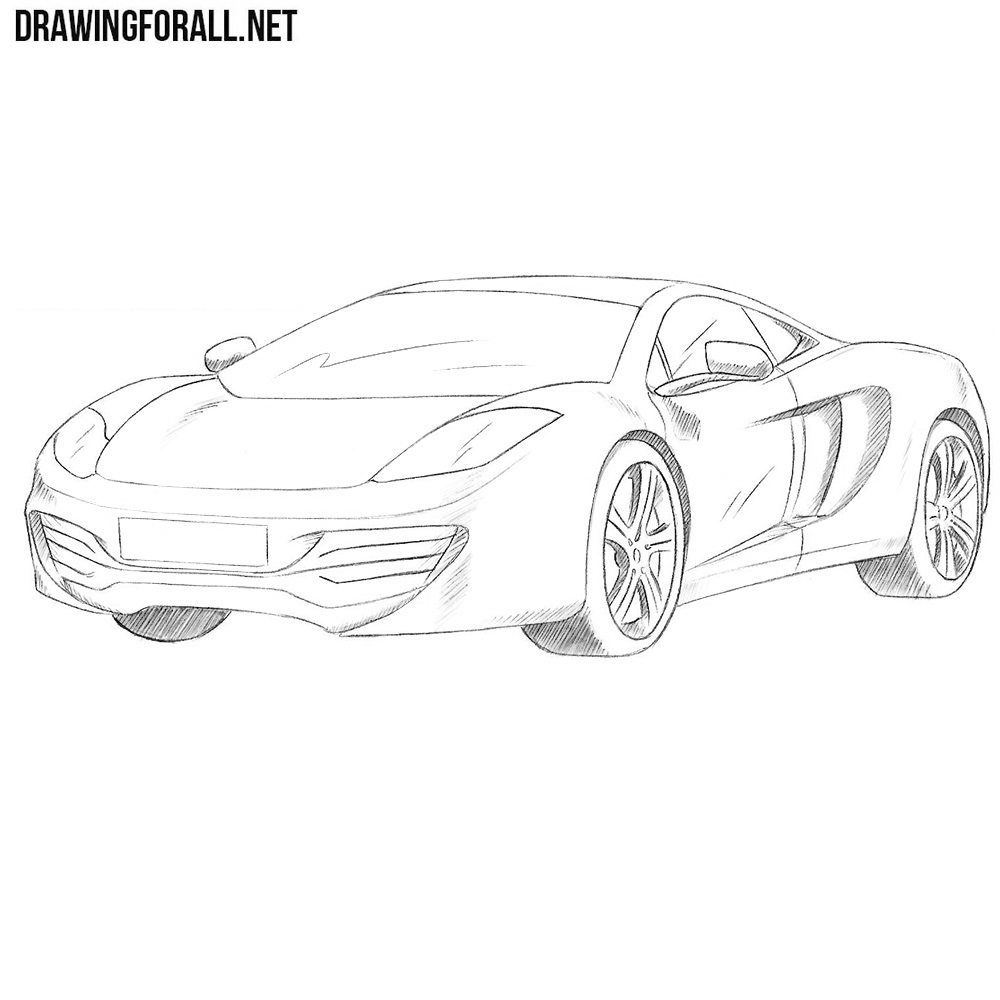how to draw a mclaren mp4