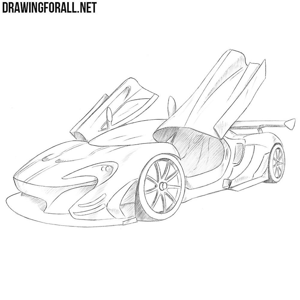 How to Draw a McLaren P1 GTR | Drawingforall.net