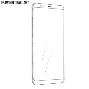 How to Draw a Samsung Galaxy S8