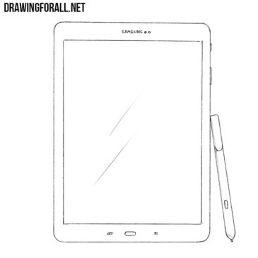 How to Draw a Samsung Galaxy Tab S3