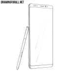 How to Draw a Samsung Galaxy Note8