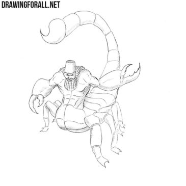 How to Draw a Scorpion Man