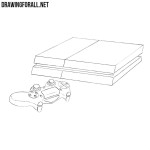 How to Draw a Sony Playstation 4