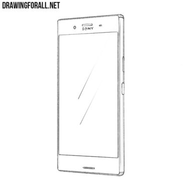 How to Draw a Sony Xperia XZ Premium