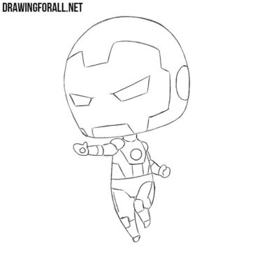 How to Draw Chibi Iron Man