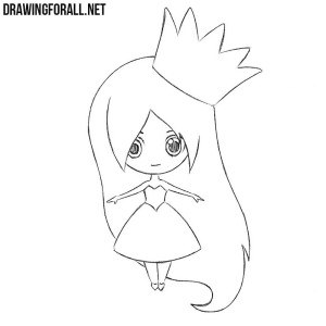 How to draw a chibi Princess