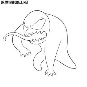 How to draw a chibi Venom