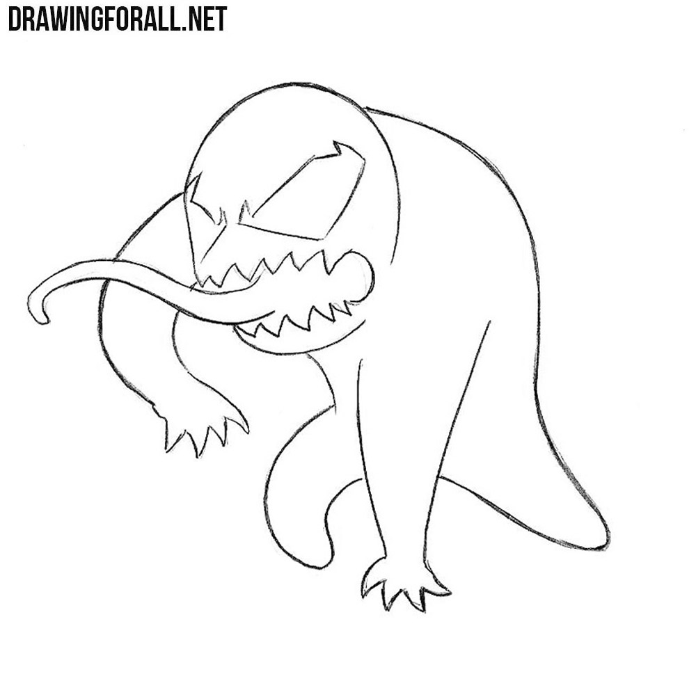 how to draw chibi venom