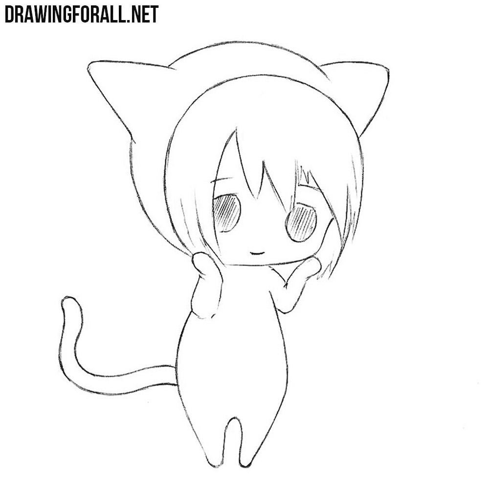 How to Draw a Cute Chibi Easy | Drawingforall.net