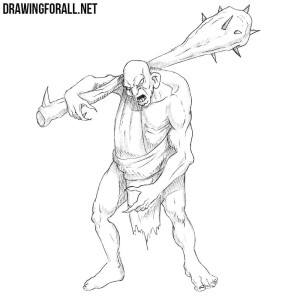How to draw a fantasy monster