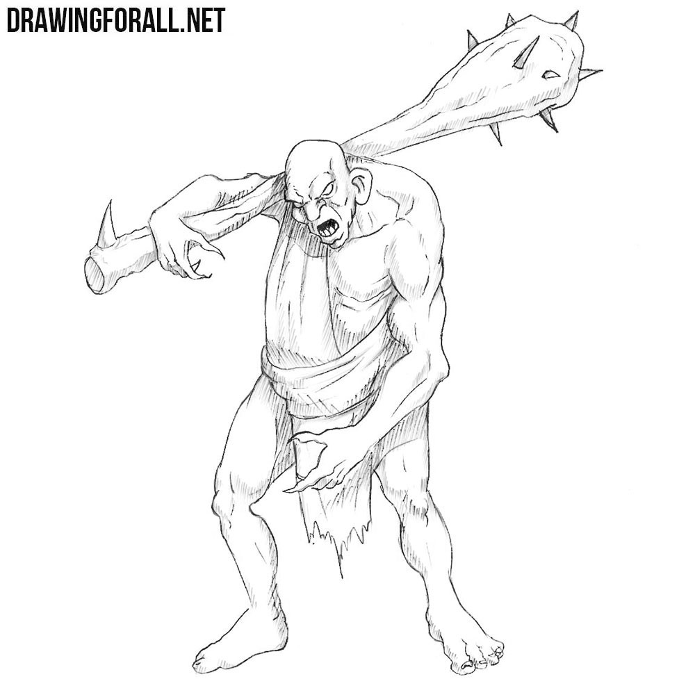 Character Drawings Portraits And Monsters: How To Draw A Fantasy Monster
