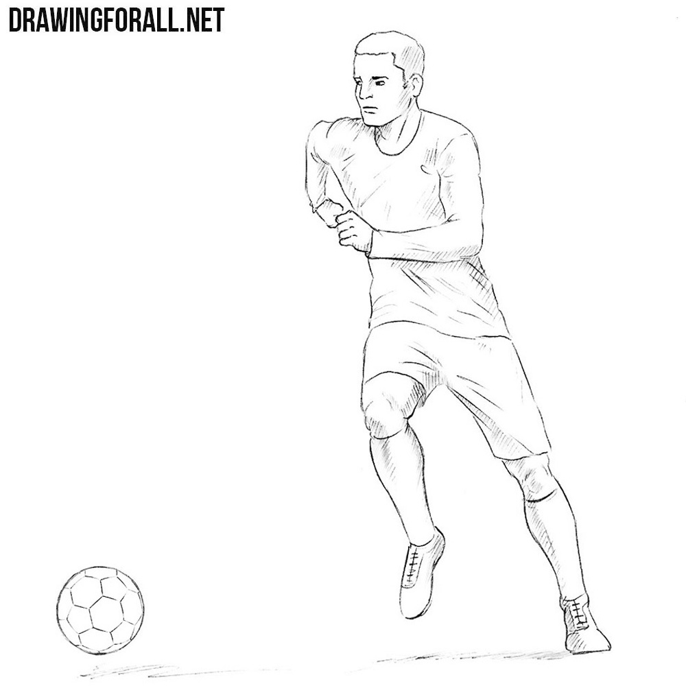 How To Draw A Football Player Drawingforall Net