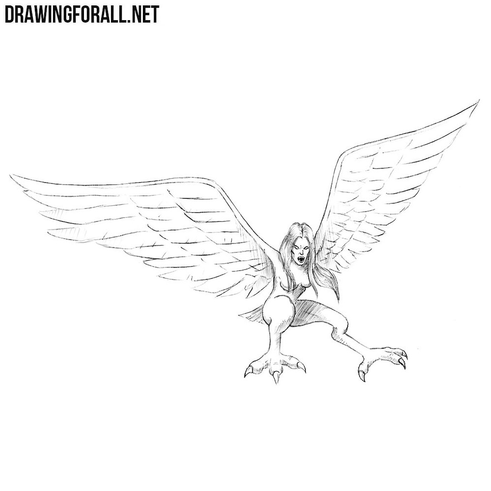How to Draw a Harpy