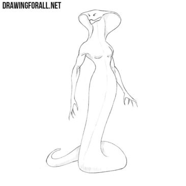 How to Draw a Snake Woman