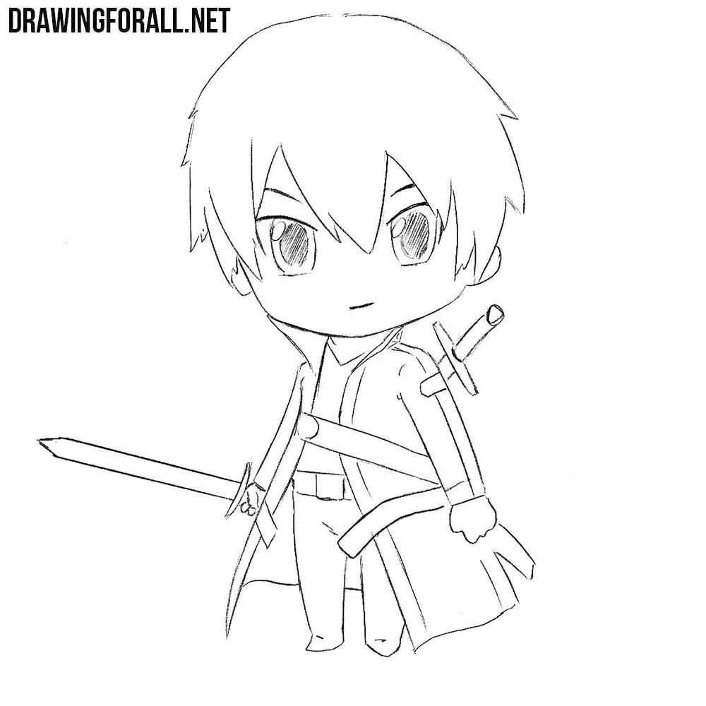 How to Draw Chibi Kirito
