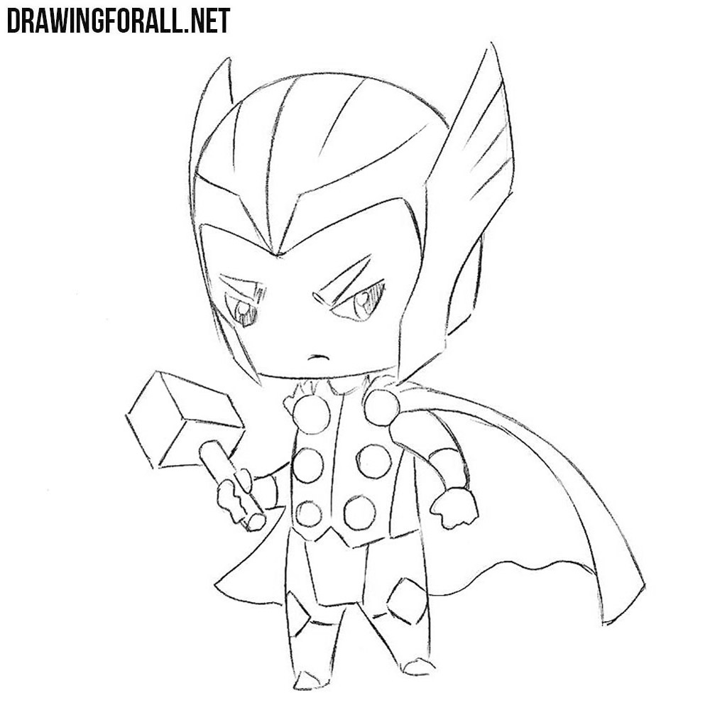 How to Draw Chibi Thor | Drawingforall.net