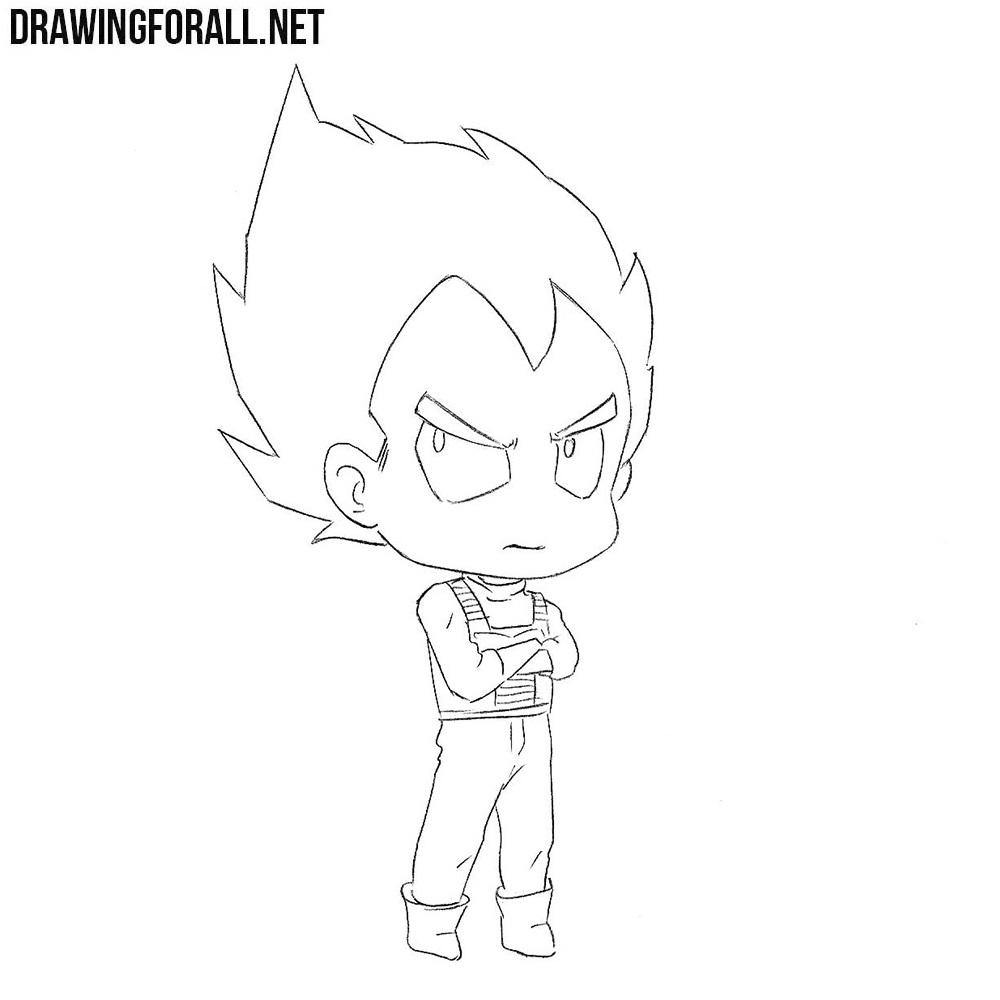 How to Draw Chibi Vegeta