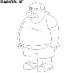 How to Draw Comic Book Guy