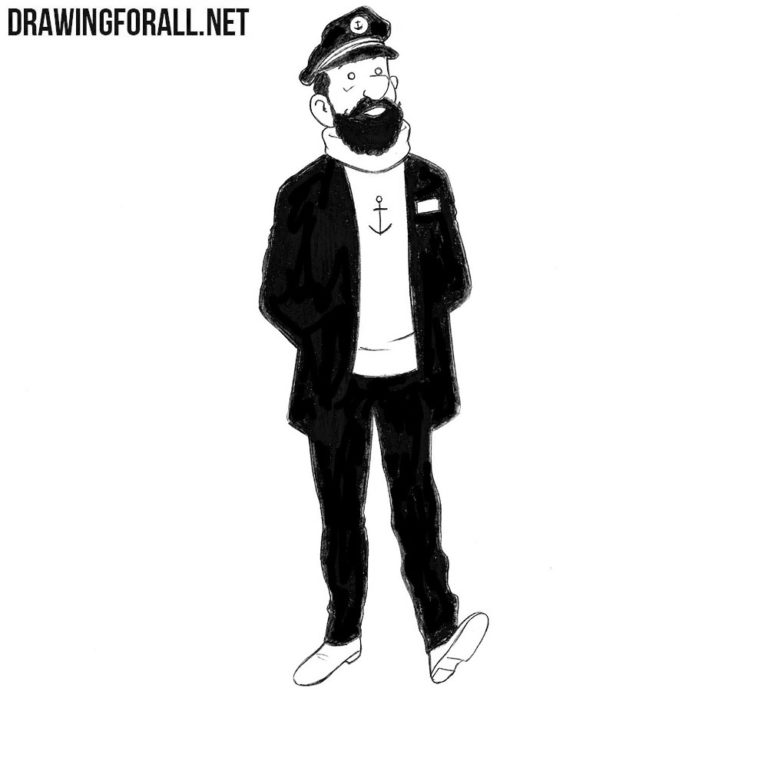 How to Draw Captain Haddock