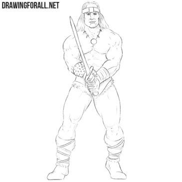 How to Draw Conan the Barbarian