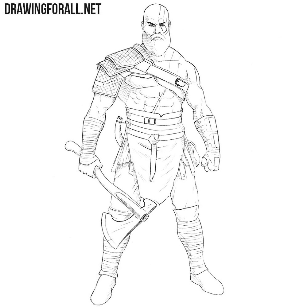 How To Draw Kratos Drawingforall Net