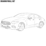 How to Draw a Mercedes-Benz CLS