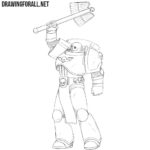 How to Draw a Space Marine Chaplain