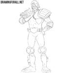 How to Draw Judge Dredd