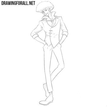 How to Draw Spike Spiegel