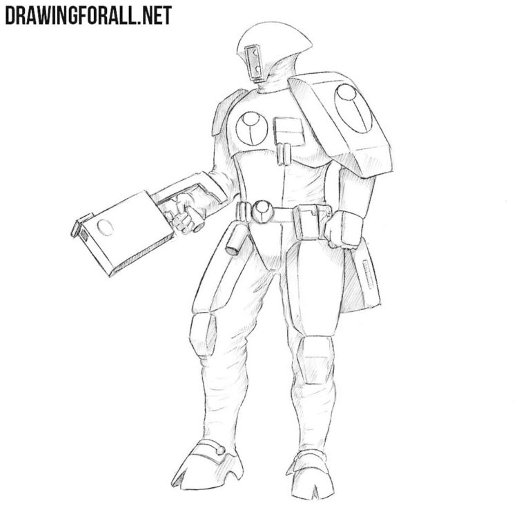 How to Draw a Fire Warrior